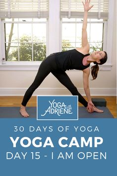Yoga Camp - Day We are halfway there! This yoga practice works both mind and body inviting you to connect and create space. Celebrate meeting the halfway. Free Yoga Videos, Yoga Themes, 30 Day Yoga, Home Yoga Practice, Yoga With Adriene, Namaste Yoga, Workout Guide, Yoga Routine, Pilates Workout