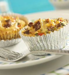 Jimmy Dean mini quiches in a muffin pan (no crust) -- sausage, mushrooms, bell pepper, eggs, milk, pepper, cheese, green onions