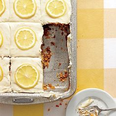 A sweet tea sheet cake with lemonade frosting inspired by an arnold palmer.  How could it not be delish?