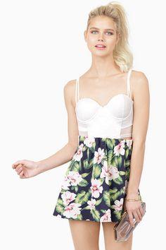 b28f4703ac8a Leave You Speechless Skirt Floral Skater Skirt
