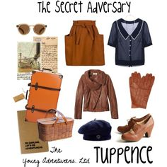 The Secret Adversary: Tuppence by monkeytuesdays on Polyvore featuring мода, Toast, Balenciaga, Chelsea Crew, Globe-Trotter, Ann Taylor, SELECTED, Accessorize, Illesteva and Moleskine