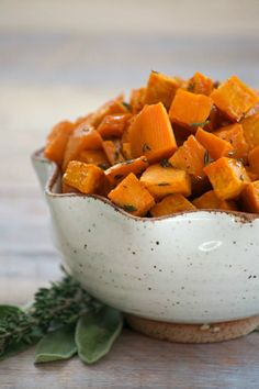 Roasted Sweet Potatoes With Agave Nectar And Fresh Rosemary Recipe ...