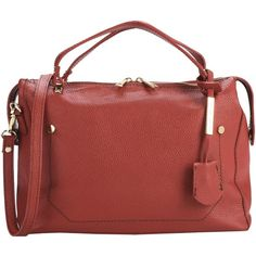 Tuscany Leather Handbag ($109) ❤ liked on Polyvore featuring bags, handbags, shoulder bags, red, red shoulder bag, leather shoulder bag, handbag purse, red leather purse and leather handbags