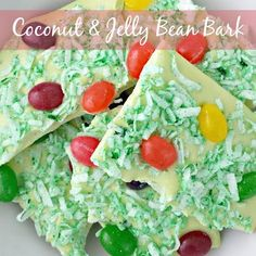 Coconut and Jelly Bean Bark