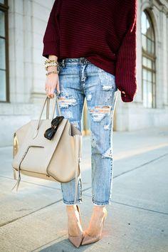 Jeans rách cho cô nàng cá tính