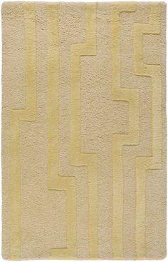 Surya CAN2020 Modern Classics Yellow Rectangle Area Rug