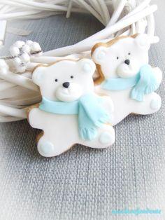 Orsetti polari!!!  Polar bears cookies