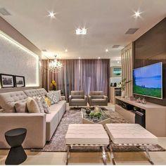 """461 curtidas, 3 comentários - Arquitetura, Decoração, Design (@construindominhacasaclean) no Instagram: """"Sala sofisticada e aconchegante ❤❤ por arqmbaptista Veja + no blog…"""""""