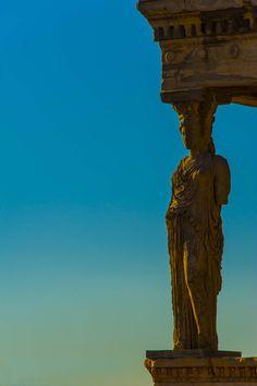 Caryatid - guardian of history, Athens Acropolis, Greece