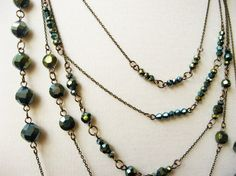 Multi-Strand Chain and Bead Necklace - How Did You Make This? | Luxe DIY - tut
