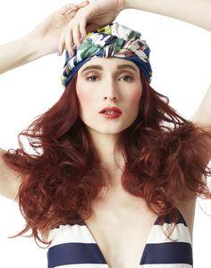 Blue Print :  spring print photo shoot | Hair by Nicole