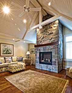 Windows In Vaulted Ceilings Sunroom With Cathedral