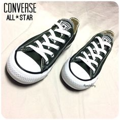 """CONVERSE all stars NEW in original box and never worn. love this classic style!  size- womens 5  color name- kombu green  due to lighting- color of actual item may vary from photos (item color closest to last photo)  please don't hesitate to ask questions, happy POSHing.   use offer feature to negotiate price on single item i do not accept, nor do i respond to """"lowest, trade, or paypal?"""" Converse Shoes Sneakers"""