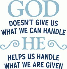 Silhouette Design Store - View Design #81661: god helps us handle what we are given
