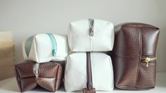 ScanNCut Tutorial Project: Leather or Canvas Toiletry Makeup bag or Dopp...