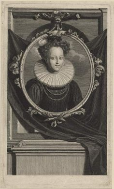 Catherine Parr. Cornelis Vermeulen (1644 -1708/09). After Adriaen van der Werff. Engraving Etching.