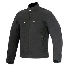 Alpinestars Oscar Ray Canvas Jacket -- New for 2015, Alpinestars' Oscar Ray Canvas Jacket is a heritage styled, vintage look waxed canvas riding jacket. The main shell is a cotton nylon fabric that is water-repellent. Seams are triple stitched. CE certified shoulder and elbow protectors are provided for impact protection along with an Interior back protector pocket.