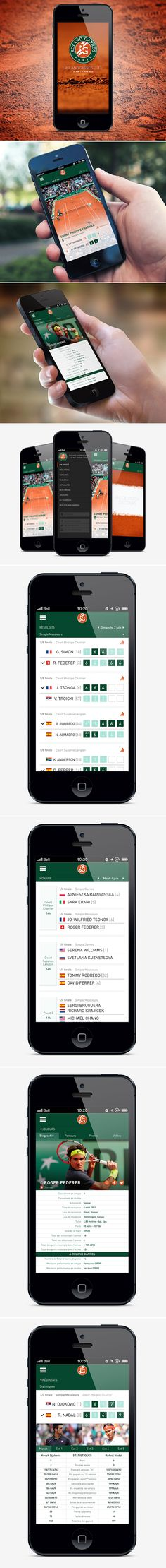 Roland Garros mobile app revamp on Behance
