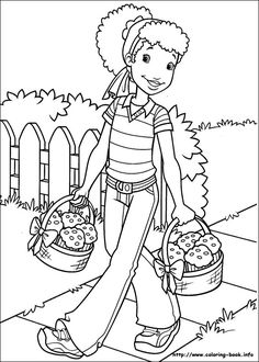 Unique American Girl Coloring Pages 61 Holly Hobbie coloring picture
