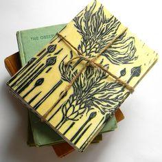 Lino Print Blank Cards by Mangle Prints, via Flickr