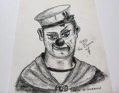 WWII Scary Clown Royal Canadian Navy Uniform  Korky the Royal Canadian Navy, Navy Uniforms, Scary Clowns, Wwii, Vintage Items, Art, World War Ii