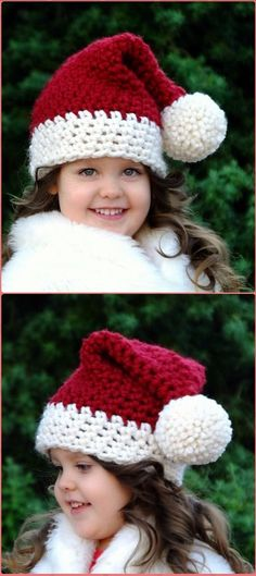 Crochet The Santa Baby Hat Free Pattern - Crochet Christmas Hat Gifts Free Patterns