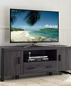 Loving this Charcoal Gray 60'' TV Stand on #zulily! #zulilyfinds