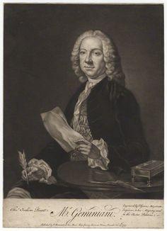 Francesco Geminiani (1687-1762), mezzotint (1777), by James Macardell (1728-1765).
