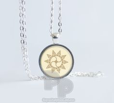 Sun Star Mandala Peace Calm Art Pendant Meditation Jewelry Yoga Necklace Namaste by ThePendantPlanet