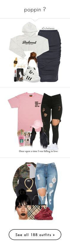 """""""poppin """" by lorde-lola ❤ liked on Polyvore featuring Rick Owens, adidas, Forever 21, MAC Cosmetics, Charlotte Russe, Casio, Brooks Brothers, NIKE, Lost & Found and Chanel"""