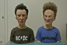 Wooaaahh! Life-like models of Beavis and Butthead. I wasn't a huge fan of the show but this is impressive!