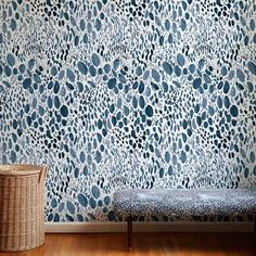 Blooms Wallpaper in Navy – Rebecca Atwood Designs