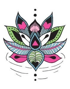 Tatuaje Temporare INKD Lotus Flower - Tatuaje designer pe Outliers.ro