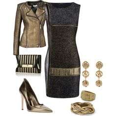 """metalic adorned"" by kristie-payne on Polyvore"