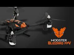 Der neue FPV Quadrocopter von MODSTER präsentiert sich im aufregenden Design und modernster Elektronik.   Der Blizzard eignet sich bestens als Racecopter oder auch als Kameradrohne mit FPV Funktion.  Extrem schnelle Flugmanöver, unbeschreibliche Kurven und Highspeed sind mit dem Blizzard kein Problem. Bei einer großzügigen Flugzeit von bis zu 15 Minuten kann der Racecopter von MODSTER dennoch innerhalb weniger Sekunden auf Höchstgeschwindigkeit beschleunigen.