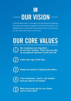 Our vision and core values.