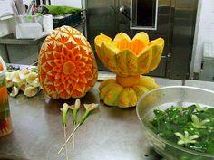 Edible Creations, Watermelon, Carving, Vegetables, Fruit, Food, Fruit Carvings, Wood Carvings, Essen