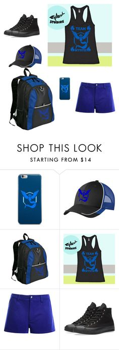 """Untitled #197"" by powerofanimalmagic ❤ liked on Polyvore featuring Valor, Converse, Pokemon, mystic, PokemonGO and teammystic"