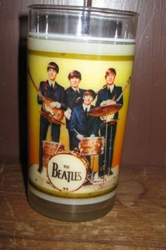 Beatles glass tumbler from the 1960s