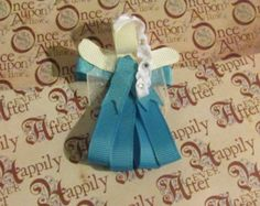 Princess Ribbon Sculpture Alligator Clip by AngelPetals on Etsy