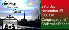 Congregational Christmas Dinner - http://centralchurchcambridge.ca/news/congregational-christmas-dinner   Potluck Dinner Please join us for an evening of fellowship.
