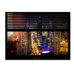 "Trademark Fine Art Window View Manhattan Night 1 by Philippe Hugonnard Wall Decor, 24 x 32"" Trademark Fine Art http://www.amazon.com/dp/B011N60AU4/ref=cm_sw_r_pi_dp_Kw0Uvb1KPZDVY"