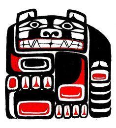 Haida Bear Tat by babybehr Tribal Images, Tribal Art, Tatouage Haida, Haida Tattoo, Bear Totem, Native Tattoos, Pole Art, Bear Tattoos, Native American Wisdom