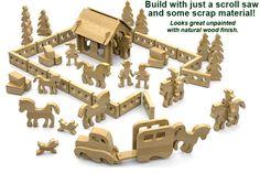 farm set: Full-Size Wood Toy Plan Set