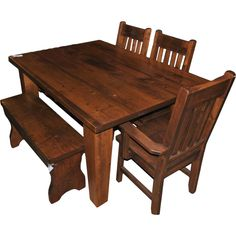Table with Bench!  Can fit a few extra people!
