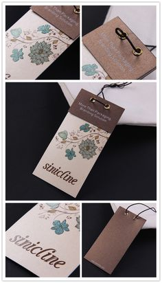 Sinicline new design - fashion pattern custom quality women t-shirt hang tags, can be customized with your brand logo.   #hangtag  More samples at http://www.sinicline.net/hang_tags/