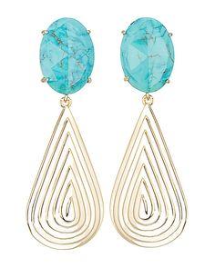 Ash Statement Earrings in Turquoise - Kendra Scott Jewelry