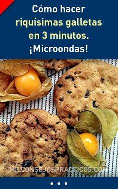Como hacer riquísimas galletas en 3 minutos. ¡Microondas! #microondas #galletas #recetas #pasteleria #facil #rapido