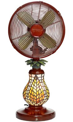 Deco Breeze Mosaic Table Top Fan/Lamp Best Price