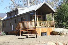 Cavco Custom Cabin at El Capitan Canyon in Goleta, CA Tiny Homes, Dream Homes, Little Dream Home, Park Model Homes, Container Houses, Lake Cottage, Tiny Spaces, Cottage Ideas, Square Feet